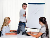 Formation in employee training — Stock Photo