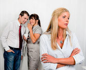 Bullying in the workplace office — Stock Photo