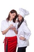 Forza cook e il servizio è mantenuta — Foto Stock