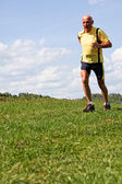 Jogger training for fitness with running — Stock Photo