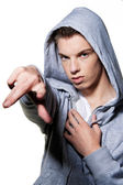 Cool-looking young man — Stock Photo