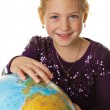 Stock Photo: Child with globe