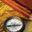 Old diary and compass — Stock Photo #8715188