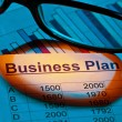 Business plan of a permanent establishment — Stock Photo #8715478