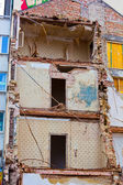 A residential building is demolished — Stock Photo