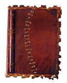 Old diary with leather binding — Stock Photo