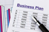Business plan of a permanent establishment — Stock Photo