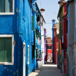 Italy, venice. island of burano — Stock Photo