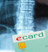 E-card for the settlement of medical bills — Stock Photo
