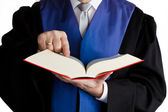 Judge with code — Stock Photo