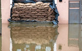 Floods in passau, germany — Stock Photo