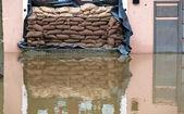 Povodně v passau, německo — Stock fotografie
