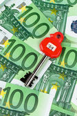 Many euro bank notes in the safe — Stock Photo
