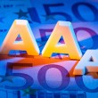 The triple a of a rating agency. aaa - Stock Photo