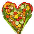 Stock Photo: Heart made of vegetables. healthy eating