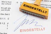 Wooden stamp on the document: set — Stock Photo
