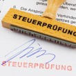 The document german inscription — Stock Photo