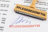 The document german inscription — Stock Photo