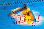 Calendar to be non smoking — Stock Photo