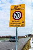 Voluntary speed limit — Стоковое фото