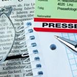 Press id of a journalist — Stock Photo #9998618