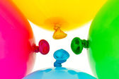 Colorful balloons. symbol of lightness, freihe — Stock Photo