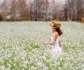 The girl in a field — Stock Photo