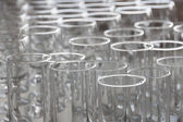 Arrangement of water glasses — Stock Photo