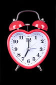 Red heart clock — Stock Photo