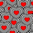 Seamless heart pattern — Stock Vector #8502161