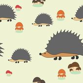 Cute little hedgehogs — Stock Vector