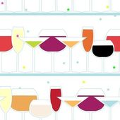 Glasses repetition — Stock Vector