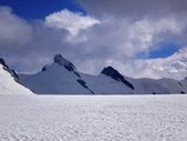 Central and eastern breithorn — Stock Photo