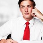 Businessman at work — Stock Photo #8891850