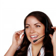 Woman with headset — Stock Photo #8936139