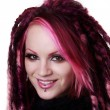 Stock Photo: Portrait of womwith dreadlocks hair