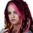 Portrait of woman with dreadlocks hair — Stock Photo #9853169