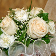 Stock Photo: Wedding bridal bouquet with roses.