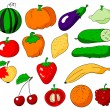 Fruits and vegetables — Stock Vector #10581666
