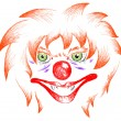 Terrible clown — Stock Vector
