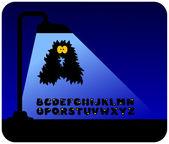 Monster alphabet — Stock Vector