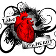 Take my heart - Stock Vector