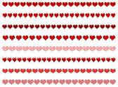 Heart borders — Stock Vector