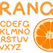 Orange alphabet — Stock Vector
