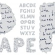 Vector de stock : Paper alphabet