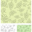 Vine seamless background - Stock Vector