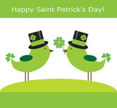 Saint Patrick's Day Birds — Stok Vektör