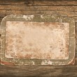 Old paper and cardboard on a wooden background - Foto de Stock  