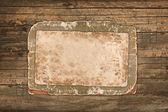 Starý papír a lepenka na dřevěné pozadí — Stock fotografie
