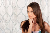 Sweet brunette with a pretty face — Stock Photo